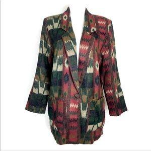 Vintage blazer Southwestern Aztec Print Jacket